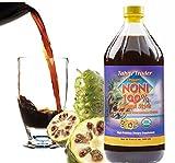 TAHITI TRADER Organic Noni 100% Island Style Juice 32oz - Noni Juice Organic Pure - Organic Noni Juice Tahiti - Juice Noni Tahiti Juice - High Potency 100% Pure Noni Juice - Single Pack