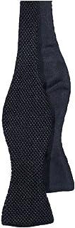 40 COLORI - Papillon da annodare in maglia e tessuto in pura seta