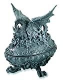 Reproduction Heroic Fantasy - Caja de huevo ovalado de dragón (11,1/9,2/14,9 cm)