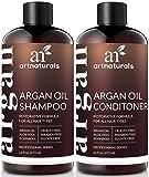 ArtNaturals Organisches Marokkanisches Arganöl-Shampoo und Conditioner Set - (2 x 16 Fl Oz / 473 ml) - Sulfatfrei - Volumen Fördernd und Feuchtigkeitsspendend