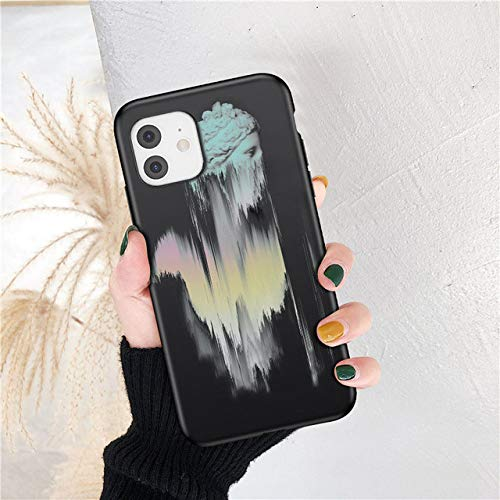 Fashion Art Abstract Phone Case para iPhone 12 11 Pro MAX Statue X XRXS A Prueba de Golpes 6 7 8 Plus SE 2020 Funda de Silicona TPU Suave, 13, para iPhone X o XS