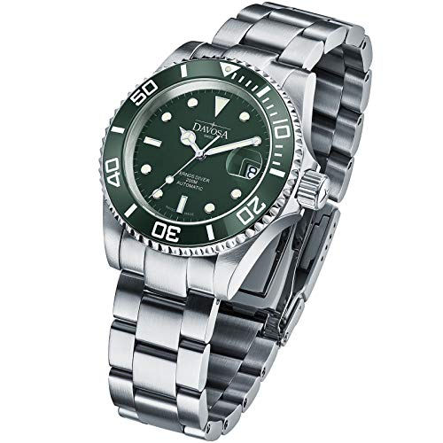 Davosa Swiss Made Dive Watch for Men - Ternos Ceramic Professional Automatic Watch with Analog Display