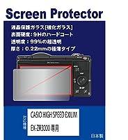 【強化ガラスフィルム 硬度9H 厚さ0.22mm 透明度99%】 CASIO HIGH SPEED EXILIM EX-ZR3000専用 液晶保護ガラス(強化ガラスフィルム)