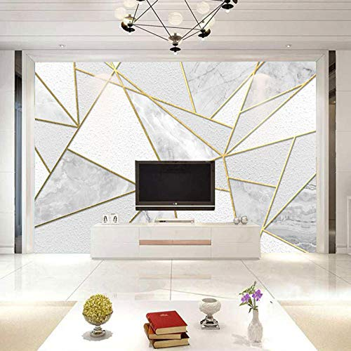 TV achtergrond muur woonkamer TV achtergrond muur papier eenvoudige moderne behang Scandinavische geometrische persoonlijkheid 3D wanddoek behang grijs muur sticker rand zelfklevende baksteen badjas (W)150cm×(h)105cm