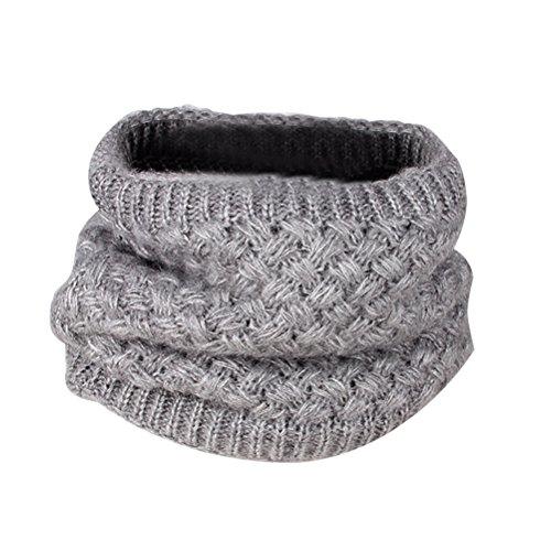 OULII Bufanda de Cuello Invierno de lana para Mujer o Hombre (Gris)