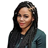 Marley Hair for Twist 4 Packs Kinky Twist Braiding Hair 18 Inch Long Marley Twist Braiding Hair 100% Kanekalon Synthetic Crochet Braids Hair Extensions for Black Women Color 1b