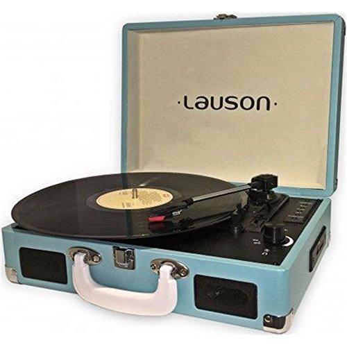 Lauson CL604 Draaitafel Bluetooth | Draagbaar reproductiekoffer van Vinyl | 33/45/78 Drievoudige Platenspeler met Geïntegreerde Luidspreker | USB-poort en SD-Geheugens | RCA-Uitgang (Blauw)
