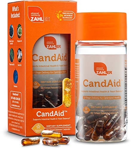 Zahler CandAid, Candida Cleanse, Candida Antifungal Supplement, Powerful Yeast Infection Treatment, Candida Support with Probiotics, Certified Kosher, 60 Timed Release Capsules