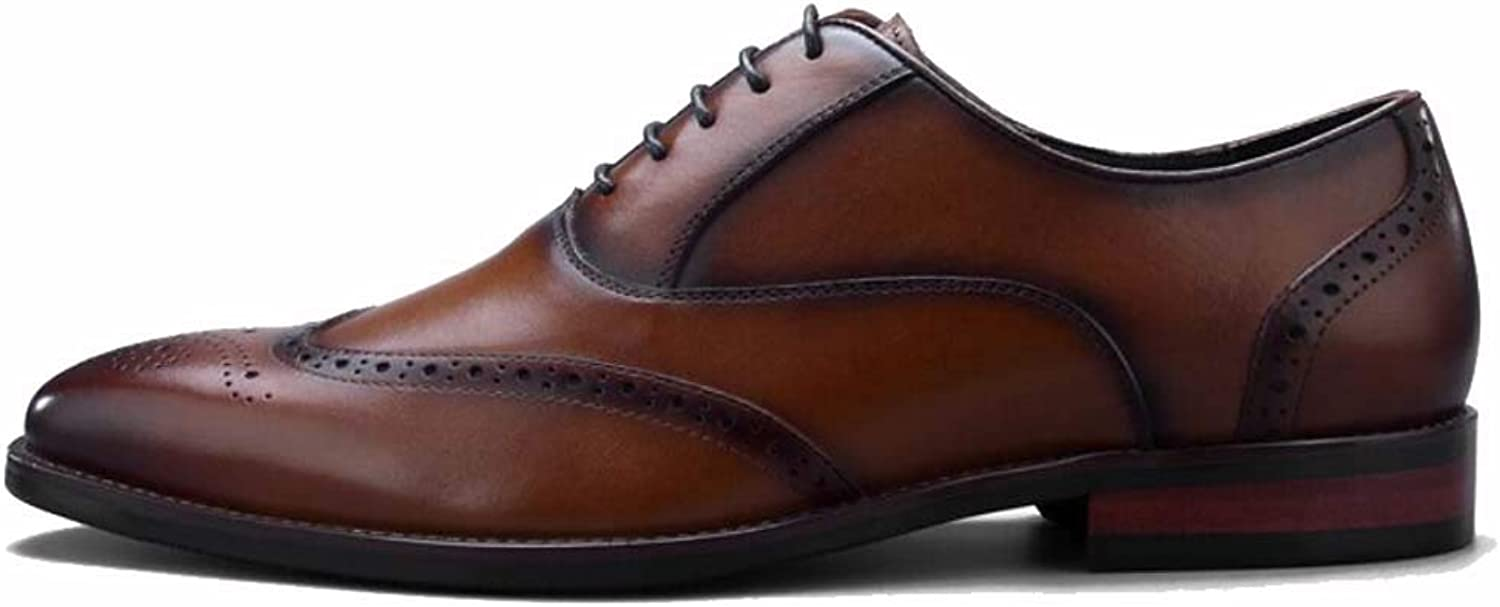 Men's Leather shoes, Brock Carved shoes, Dress shoes, Business shoes