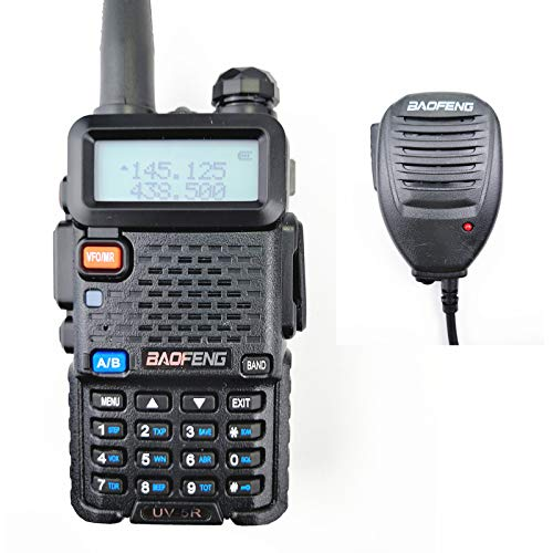 UV-5R Dual Band Handheld Radio FCC Allow Frequency Dual Band Walkie Talkie (with Speaker Mic & Earpiece)