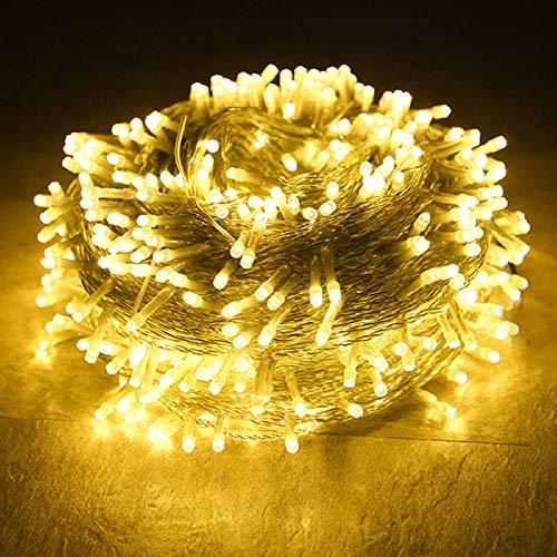 Thrisdar 100M 1000 LED Noël LED Guirlande Lumineuse Extérieure Fée Guirlande De Vacances Fête De Mariage Fée Guirlande Lumière-Warm_White_100M_800LEDS