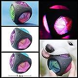 Celan Bola elástica de goma segura para masticar sonido brillante para perros y cachorros