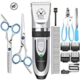 YIDON Dog Clippers Low Noise Pet Hair Clippers Cordless Rechargeable Professional Shaver Dog Grooming kit for Dogs Cats Pets[Upgrade]