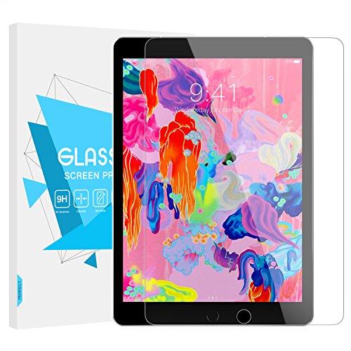 TiMOVO Protector de Pantalla Compatible con iPad 9.7 Inch (2018/2017 Model), iPad Pro 9.7 Inch, iPad Air 1/2, Anti-Huellas Alta Definición [9H Dureza] Claro Cristal Templado Película, Cristal Claro