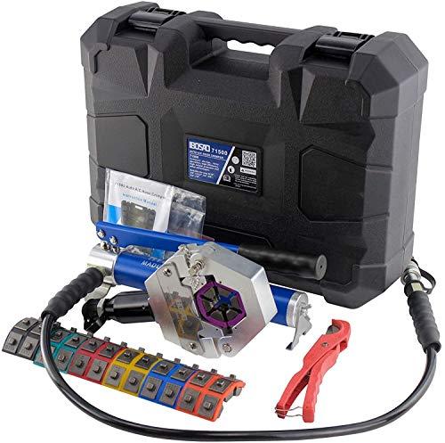 Crimpadora hidráulica manual A/C, kit de engarce de manguera para reparación de aire acondicionado, herramienta de engarce hidráulica manual (split con bomba manual)