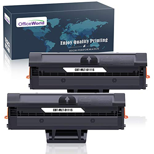 OfficeWorld D111S MLT-D111S Cartucce Toner Ricambio per MLT-D111 111S (2 Nero) Compatibili per Samsung Xpress SL-M2070 SL-M2026 SL-M2020 SL-M2022 SL-M