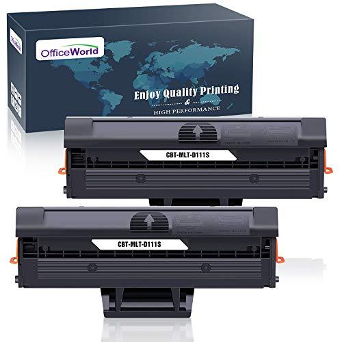 OfficeWorld MLT-D111S MLT-D111L Cartucho de Tóner Reemplazo para Samsung D111S D111L para Samsung Xpress SL-M2026W M2020W M2070 M2070FW M2026 M2020 M2022 M2022W M2070W M2070F M2078W (2 Negro)