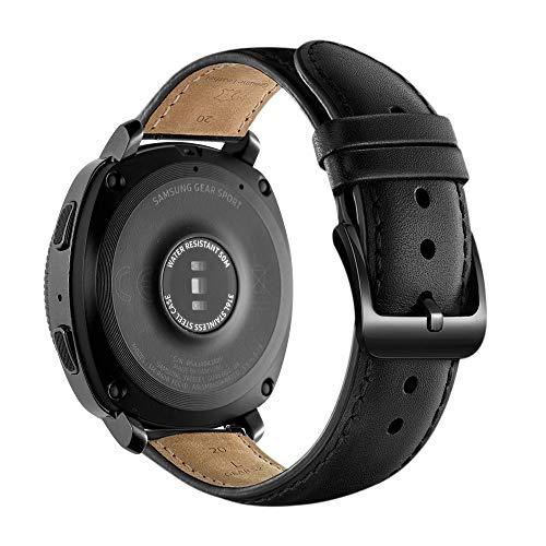 Pulseira de Substituição de Couro, 20mm, Compatível com Garmin Vivoactive 3 Music/Vivoactive 3/Venu/Vivomove HR/Luxe/Style/Forerunner 245/645 Music