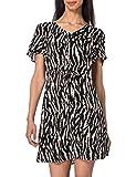 Vero Moda VMSIMPLY Easy SS Short Dress WVN GA Vestido, Rosa Dust/AOP: Maggie, L para Mujer