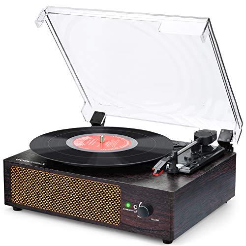 Tocadiscos Bluetooth para Discos de Vinilo Tocadiscos de vinilo vintage estéreo de...