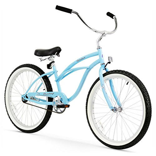Firmstrong Urban Lady Single Speed Beach Cruiser Bicycle, 24-Inch, Baby Blue
