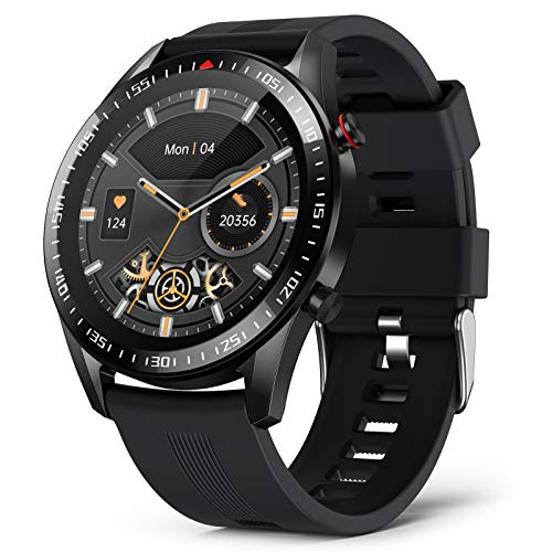 BingoFit Smart Watch Compatible iPhone and Android Phones IP68 Waterproof, Smartwatch for Men Fitness Activity Tracker Heart Rate Monitor Pedometer Sport Men Digital Watch with Personalized Watch Face