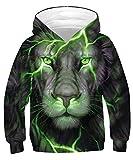 TUONROAD Hoodie Niño Funny 3D Impreso Sudaderas con Capucha Manga Larga Pullover Sweater Hoody con Bolsillos Cordón 6-8 Años