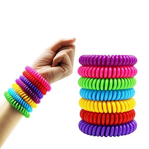 Rpanle Mückenschutz Armband, 12 Stück Natürlichen Anti Mosquito Bracelet Repellent Wristband für Kinder, Erwachsene, Camping, DEET Frei und Wasserdicht