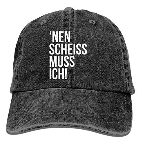 AINCIY Gorra de béisbol de Camionero, NEN Scheiss Muss Ich Ajustable Youth Cowboy Mens Golf Caps Sombreros