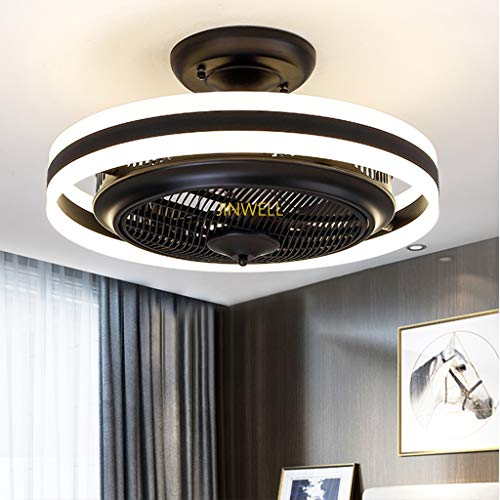 Neue LED Deckenventilator Licht Deckenventilator Licht Schlafzimmer negative Ionen unsichtbare Ventilator Licht Restaurant Wohnzimmer moderne minimalistische mit Fernbedienung Fan