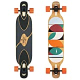 Loaded Boards Dervish Sama Bamboo Longboard Skateboard Complete (80a in Heat, Flex 2)