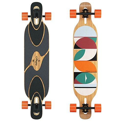 Loaded Boards Dervish Sama Bamboo Longboard Skateboard Complete (80a in Heat, Flex 1)