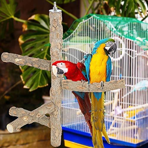 Natruss Accesorio para Jaula de pájaros, fácil instalación, para Masticar, Jugar, Juguete, Estante para pájaros, Percha para Loros, portátil para Loros y pájaros