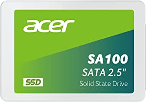 Acer SA100 480GB 2.5 Inch SSD SATA III 3D NAND PC Internal Solid State Drive Up to 560 MB/s - BL.9BWWA.103