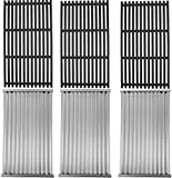 MixRBBQ 3 Pack Grill Grate and Emitter Replacement Parts for Char-Broil Commercial, Signature, or Professional Series TRU-Infrared Gas Grills