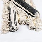 U'Artlines Teppiche aus Baumwolle Maschinenwaschbare mit Quaste Gewebte Baumwolle Wurf Teppiche Läufer für Küche, Wohnzimmer, Schlafzimmer, Waschküche, Eingangsbereich(60 * 130 Gelb) - 3