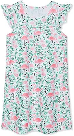 uideazone Girls Hawaiian Flamingos Sleeveless Nightgown Nightdress Sleepwear Pyjamas Sleep Shirts product image