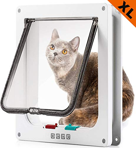 success Large Cat Doors for Exterior and Interior Doors, Pet Door with Magnetic