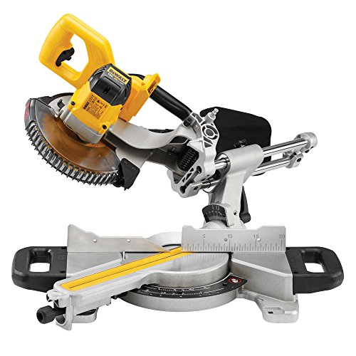 DEWALT DCS365M2 Mitre Saw 18V Cordless 184mm (2 x 4Ah Batteries), 18 V, Yellow