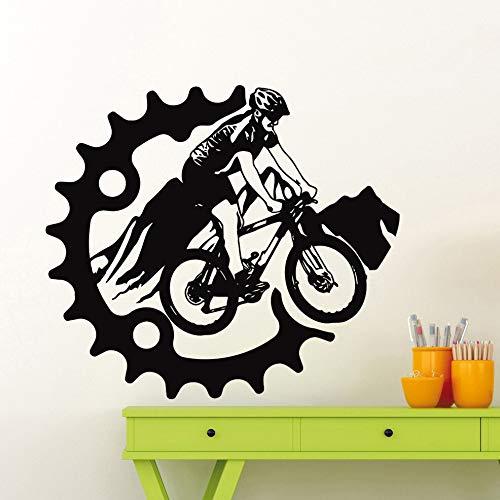 AKmene Mountainbike Wandaufkleber Bike Wall Decal42X48CM
