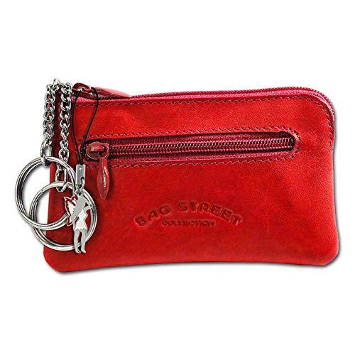 SilberDream DrachenLeder Unisex Schlüsseltasche Etui Geldbörse rot Leder 10x0.5x6cm OPJ900R Leder Schlüsseltasche