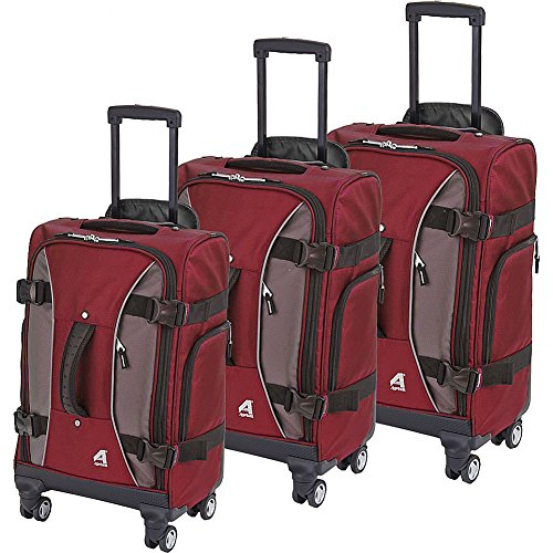 Athalon Hybrid Spinners Luggage 3 Pc Set, Berry/gray, One Size