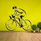 yaonuli Biker wandtattoos abnehmbare Bike Racer wandaufkleber Wohnzimmer Dekoration 46x42 cm