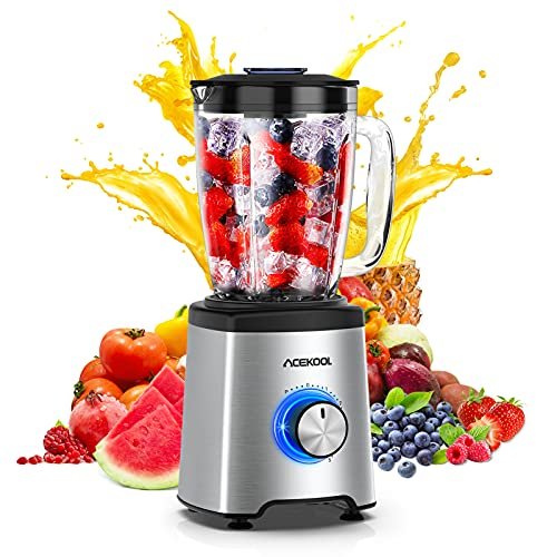 Blender Smoothie Maker 800W Acekool BC1 Glass Smoothie Blender with Professional...