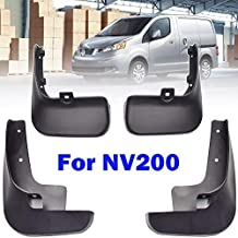 Mud Flaps for Nissan NV200 Vanette Evalia 2010-2019 Front and Rear Mudguards Splash Guards Fender Full Wheel Protection from Dirt