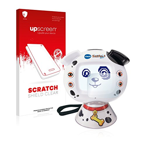 upscreen Schutzfolie kompatibel mit Vtech KidiPet Touch 2 (Hund) – Kristallklar, Kratzschutz, Anti-Fingerprint