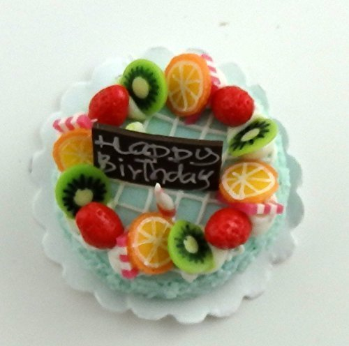 Melody Jane Maison De Poupées Fruit Décoré Gâteau D'anniversaire Célébration Fête Accessoire B