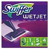 Swiffer WetJet Balai Lave Sol avec Spray, Kit de Démarrage avec 1 Balai Spray, 5 Lingettes, 1 Solution Nettoyante...