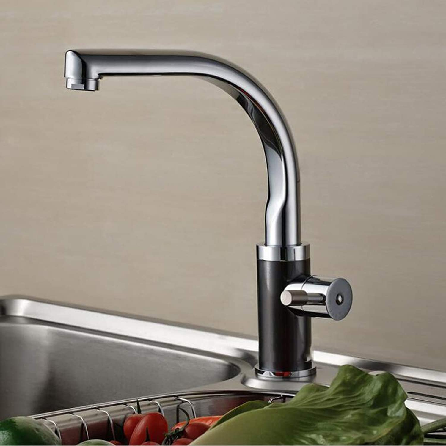 Bathroom Kitchen Sink Faucet,Silver360 Degree redation Spout Tube Hot and Cold All Brass Chrom.