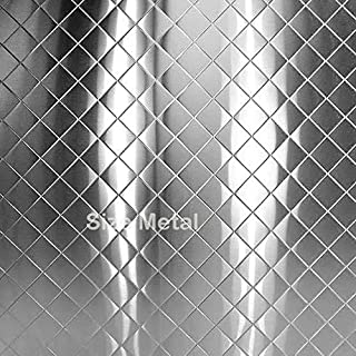 Food Truck & Restaurant Chrome Quilted Stainless Steel Sheet, 24Ga 48